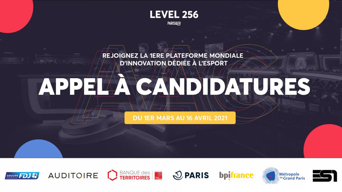 Level 256 - Appel à candidatures de projets innovants dédiés à l'esport